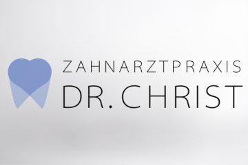 Logo Zahnarztpraxis Christ mit Textelement