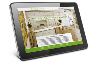 Website Praxis Pilmayer – Darstellung am Tablet