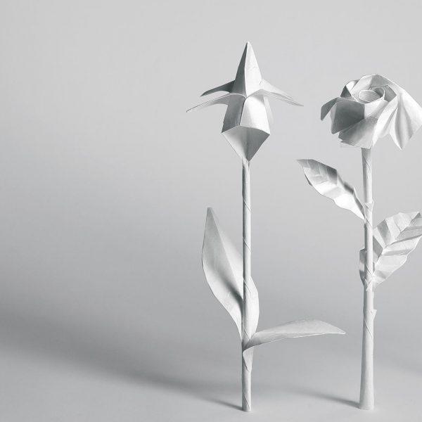 Origami-Motiv Blumen