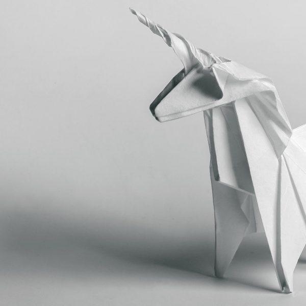 Origami-Motiv Pferd