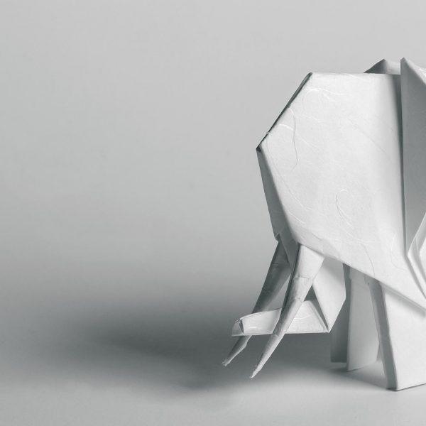 Origami-Motiv Elefant