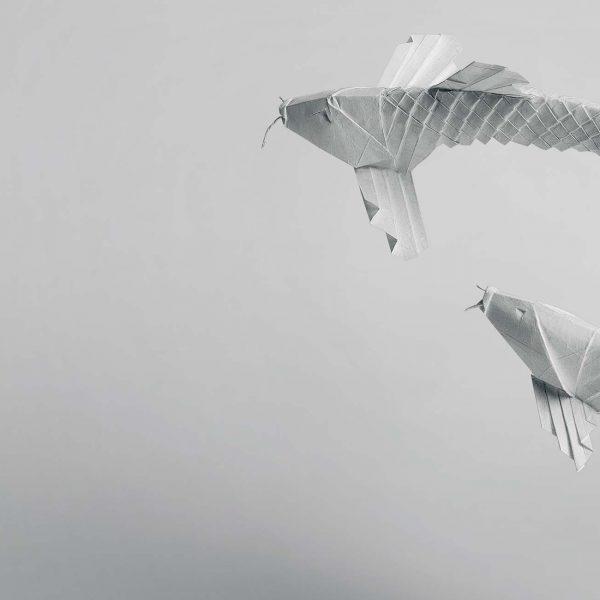 Origami-Motiv Fische