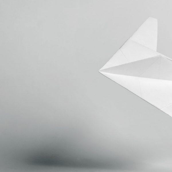 Origami-Motiv Flugzeug
