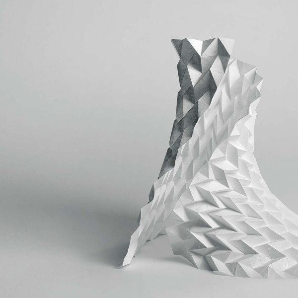 Origami-Motiv Kunstform