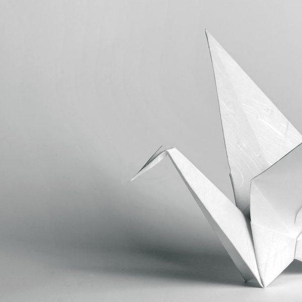 Origami-Motiv Kranich