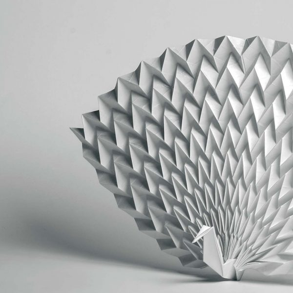 Origami-Motiv Pfau