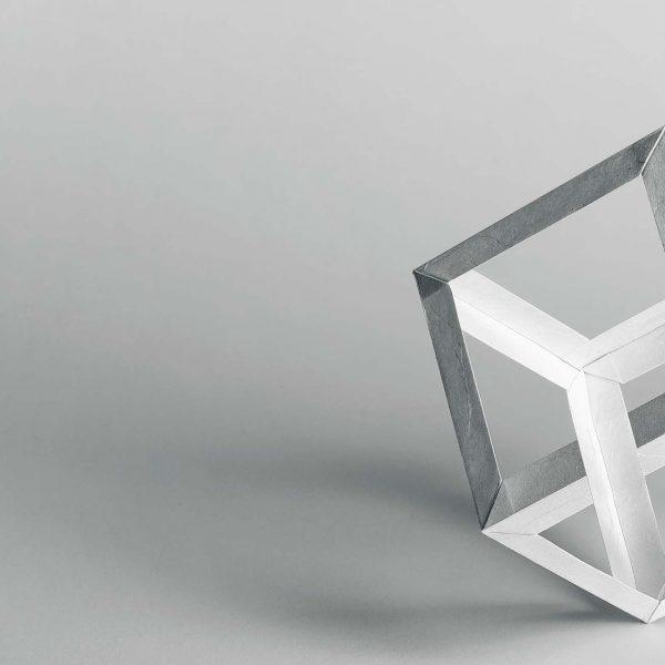 Origami-Motiv Würfel