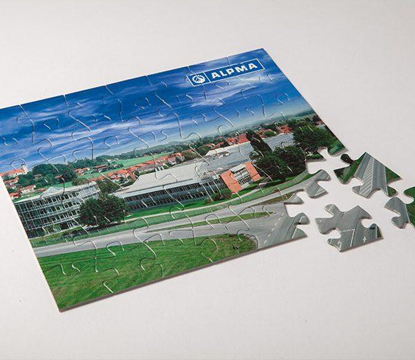 Puzzle, Werbemittel mit ALPMA-Logo