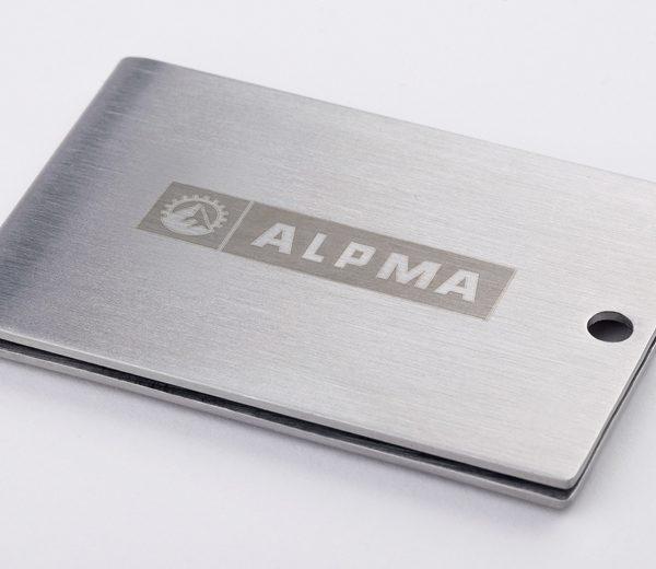 Werbemittel mit ALPMA-Logo