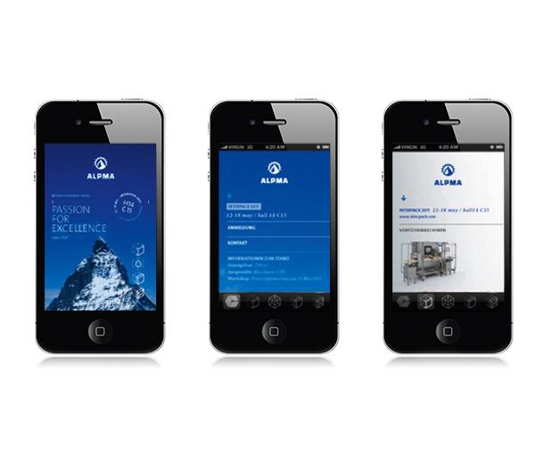 Darstellung der Website auf Mobilgeräten