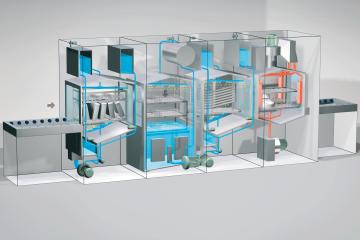 3D-Funktionsgrafik für Sterilisationsanlage (Belimed)