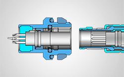 3-D Illustration Steckverbinder
